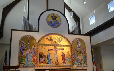 Reuter pipe organ, integrated with a new Allen Protege L226